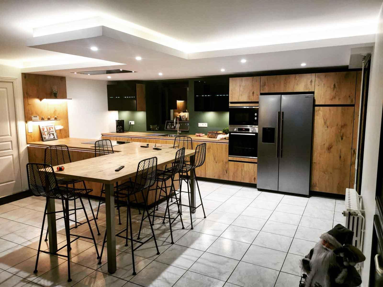 Une cuisine conviviale et lumineuse pour partager des bons moments en famille